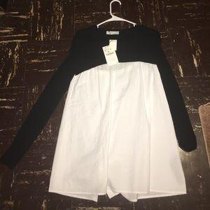 Black and white Zara shirt